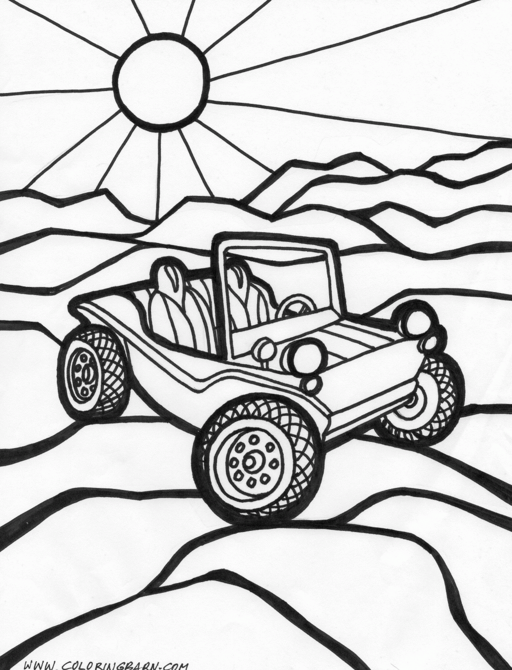Dune Buggy Coloring Page : buggy, coloring, Cars-5.gif, 1,000×1,310, Pixels, Coloring, Pages,, Summer, Buggy