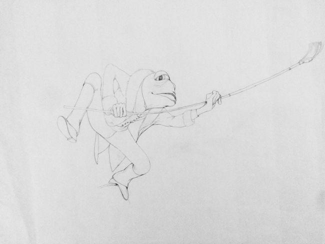 Rébecca Dautremer - Crayonné Crapaud | Oeuvres | Galerie Robillard