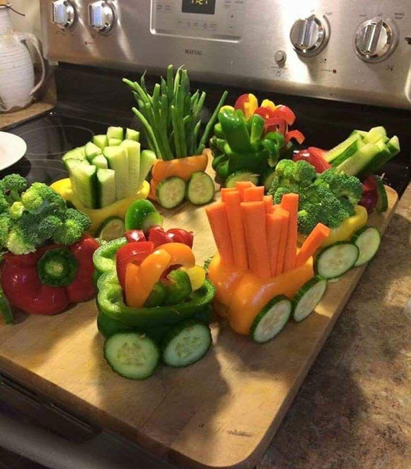 Pepper veggie train #bellpepperrecipes