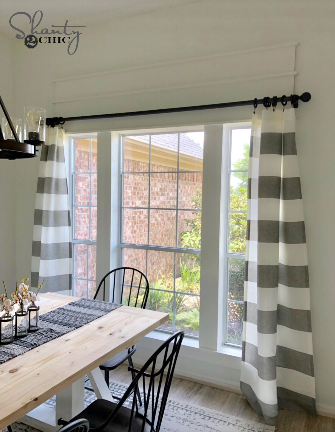 DIY Window Trim to Cover and Existing Half Circle Window ...