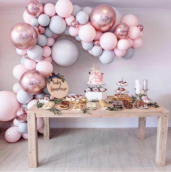 Ideas De Temas Para Baby Shower.Ideas Para Baby Shower Nina Con Globos Temas Para Baby