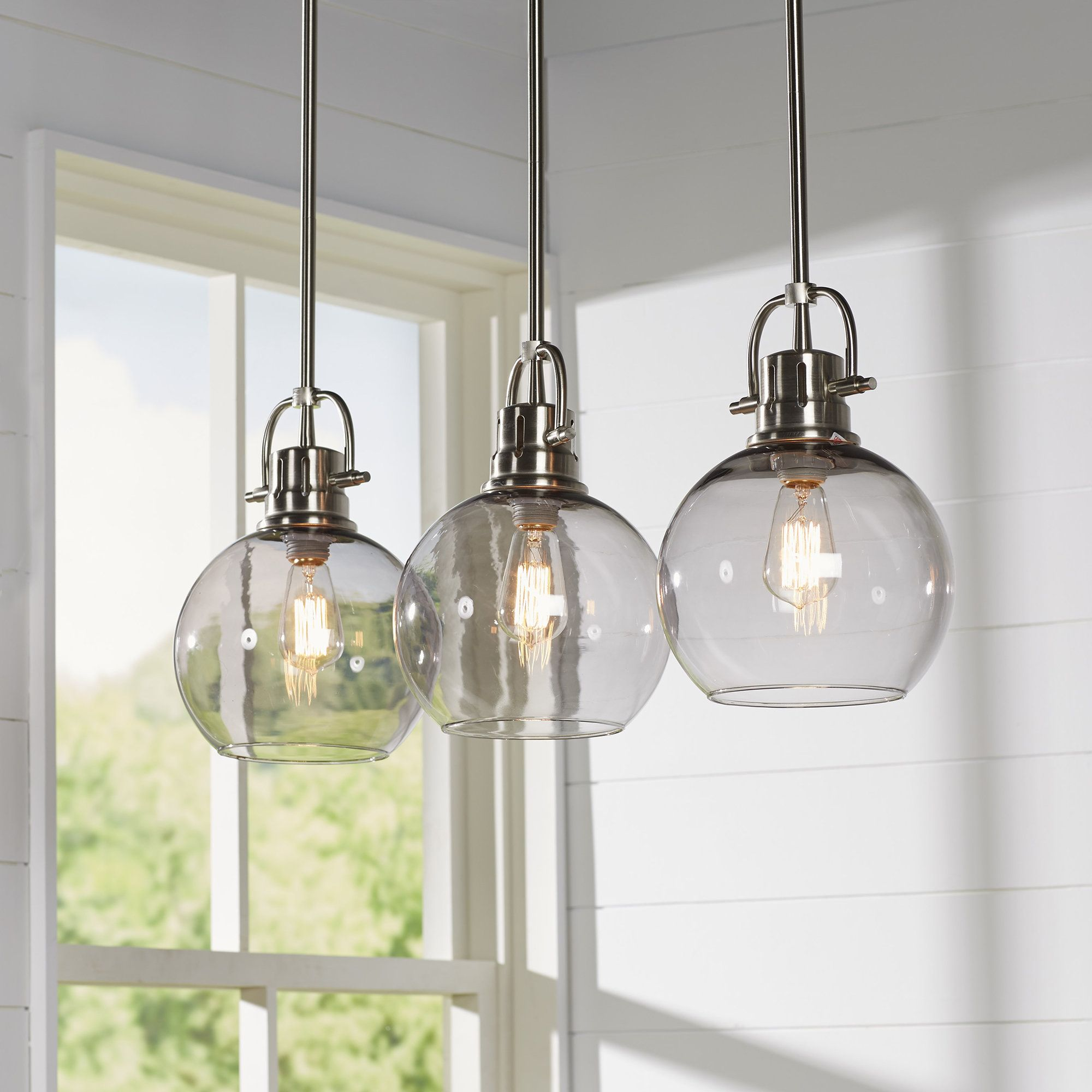 Burner 3-Light Kitchen Island Pendant