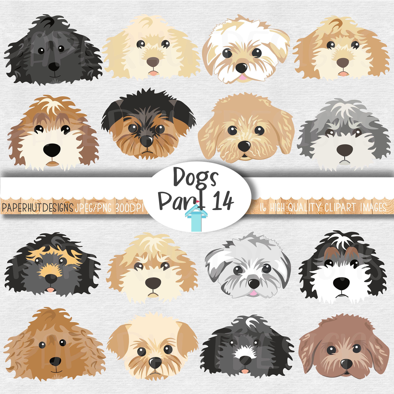 Dog Faces Clipartdog Faces Clip Art Dog Illustrationspuppy Etsy Dog Illustration Puppy Clipart Dog Clip Art [ 3000 x 3000 Pixel ]