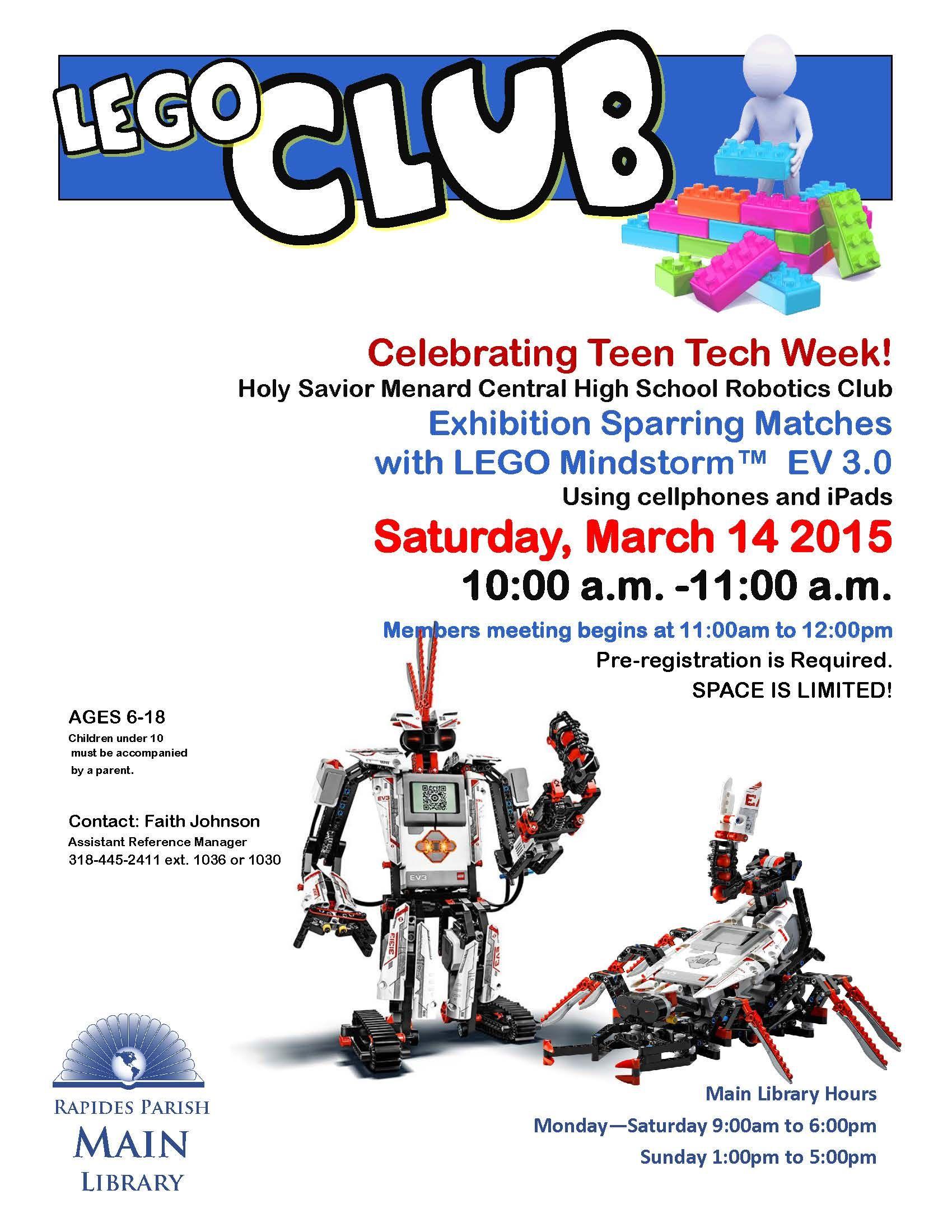 LEGO Mindstorm Robotic Exhibition! Celebrating Teen Tech