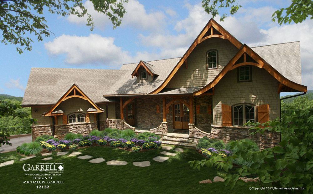 Hot springs cottage gable house plan 12132 mountain for Lake cottage house plans