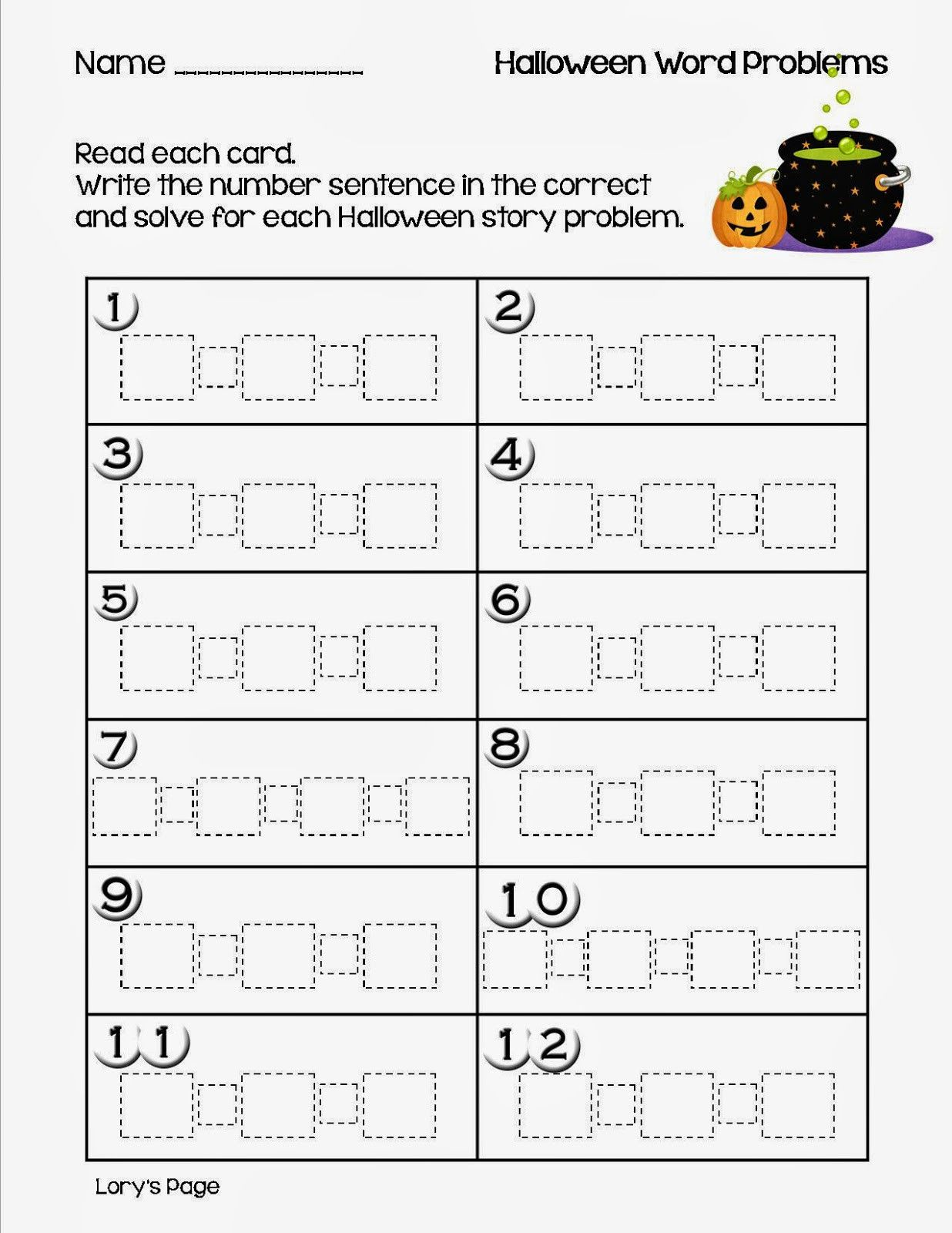 3 Free Math Worksheets First Grade 1 Subtraction
