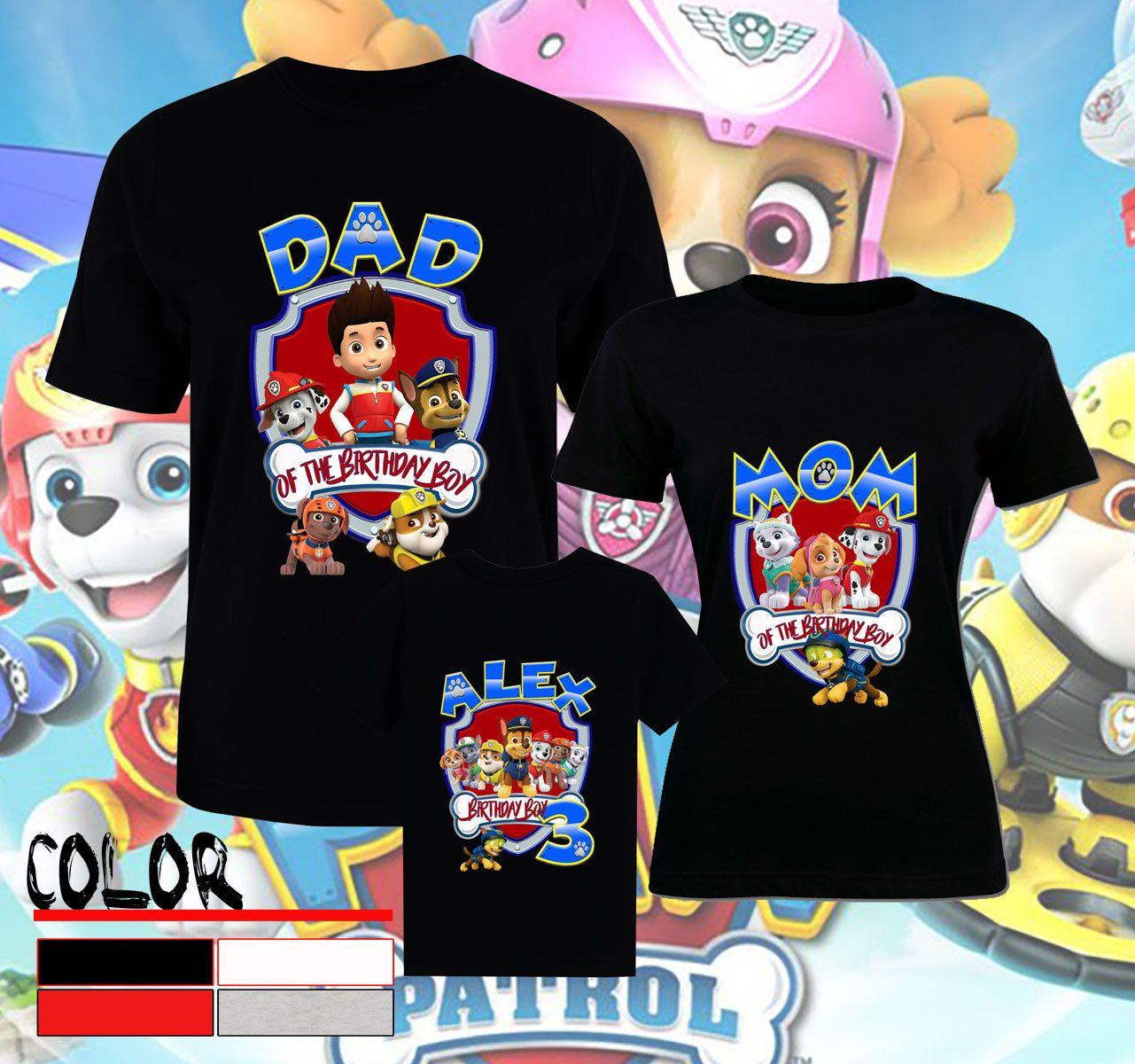 43127c98b99e0 Birthday Paw Patrol Shirts Paw Patrol T-Shirt Paw Patrol Family ...