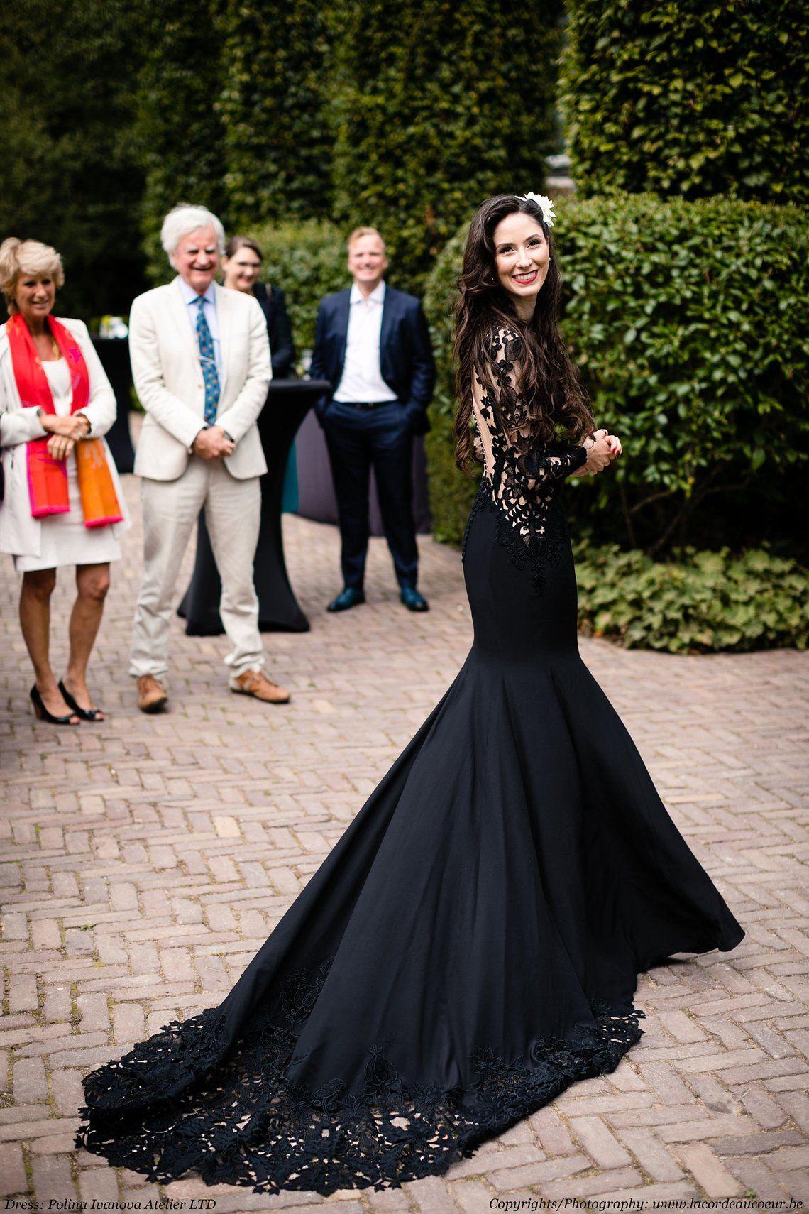 Black Wedding Dress Black Lace Wedding Dress Black Lace Gown Gothic Wedding Dress Alternative Dress Twilight Wedding Dress Black Lace Wedding Dress Black Lace Wedding Wedding Dresses Lace