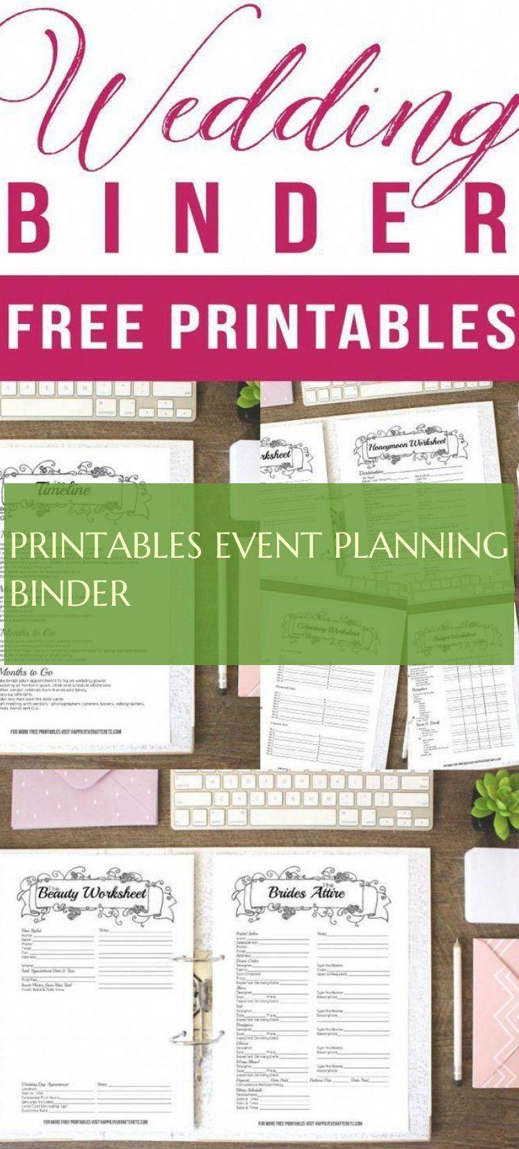 Printables Event Planning Binder Printables Ereignisplanungsmappe