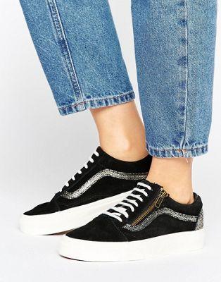 Gold Black Get And Old My In Sneakers Vans Zip Closet Skool w70qxXp