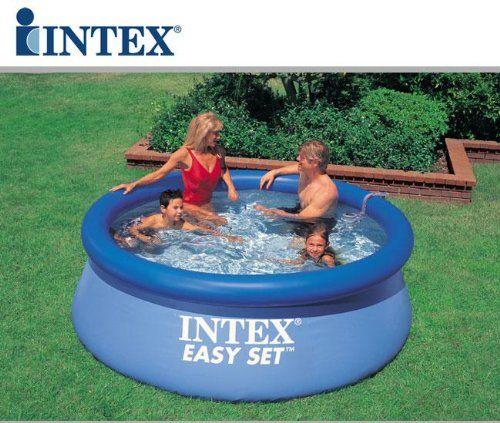 Amazon Com Intex 8 X 30 Easy Set Inflatable Swimming Pool 28110e Sports Outdoors Easy Set Pools Inflatable Pool Pool