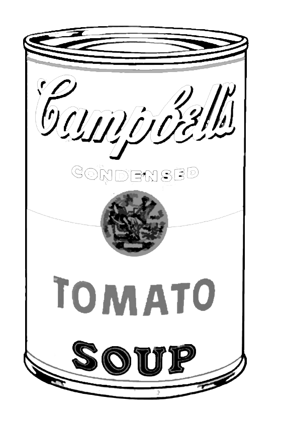 Andy Warhol tomato campbell to color Pop Art for kids / cuadros ...