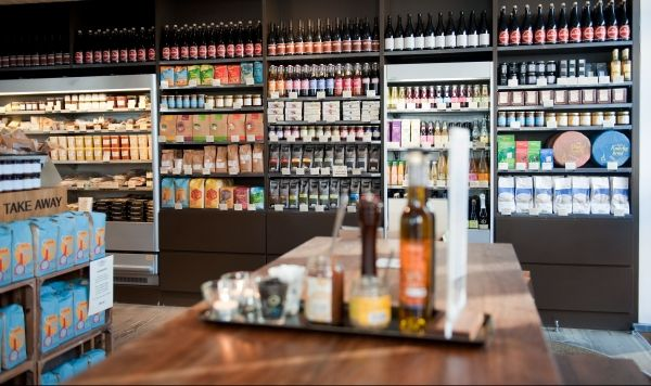 Meyers Deli, Gl. Kongevej. Claus Meyer is one of most celebrated gourmet chefs in Denmark. His Delis are wonderful places to eat and shop first class edible nick nacks