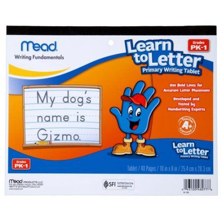 Mead Early Learning Learn To Letter Primary Writing Tablet