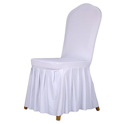 ZONSE Sure Fit Spandex Long Dining Room Chair Cover Chai
