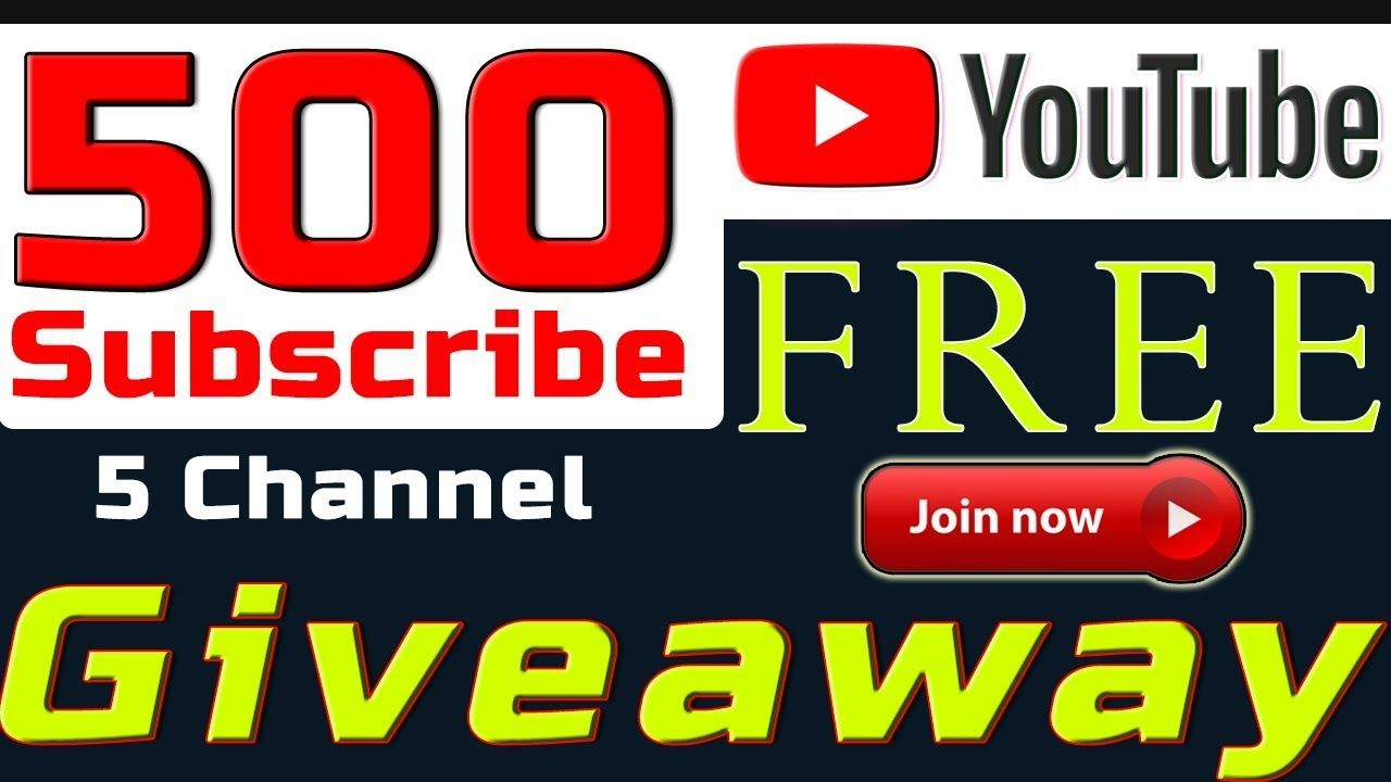 500 Subscribe 5 YouTube Channel (Giveaway) Promote YouTube