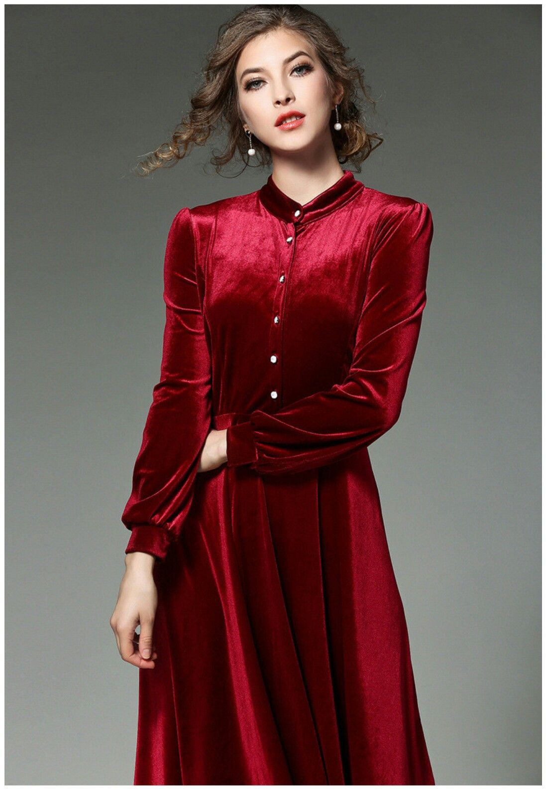 Pin By Saq H On Dark Brown Dresses A Line Dress Red Frock