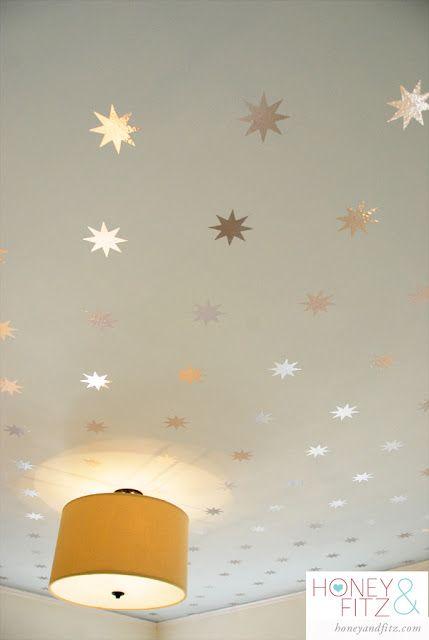 Starry Wallpaper For Your Ceiling Kidsrooms Kidswallpaper