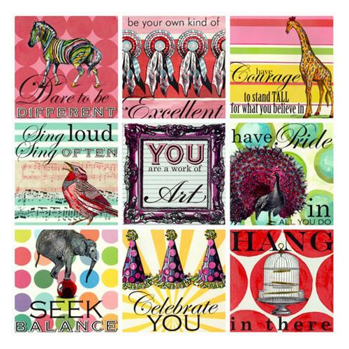 Girl Sweet Sayings Canvas Reproduction @PoshTots