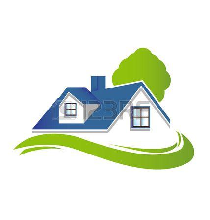 Stock Vector Home Logo Real Estate Logo Design Painting Logo