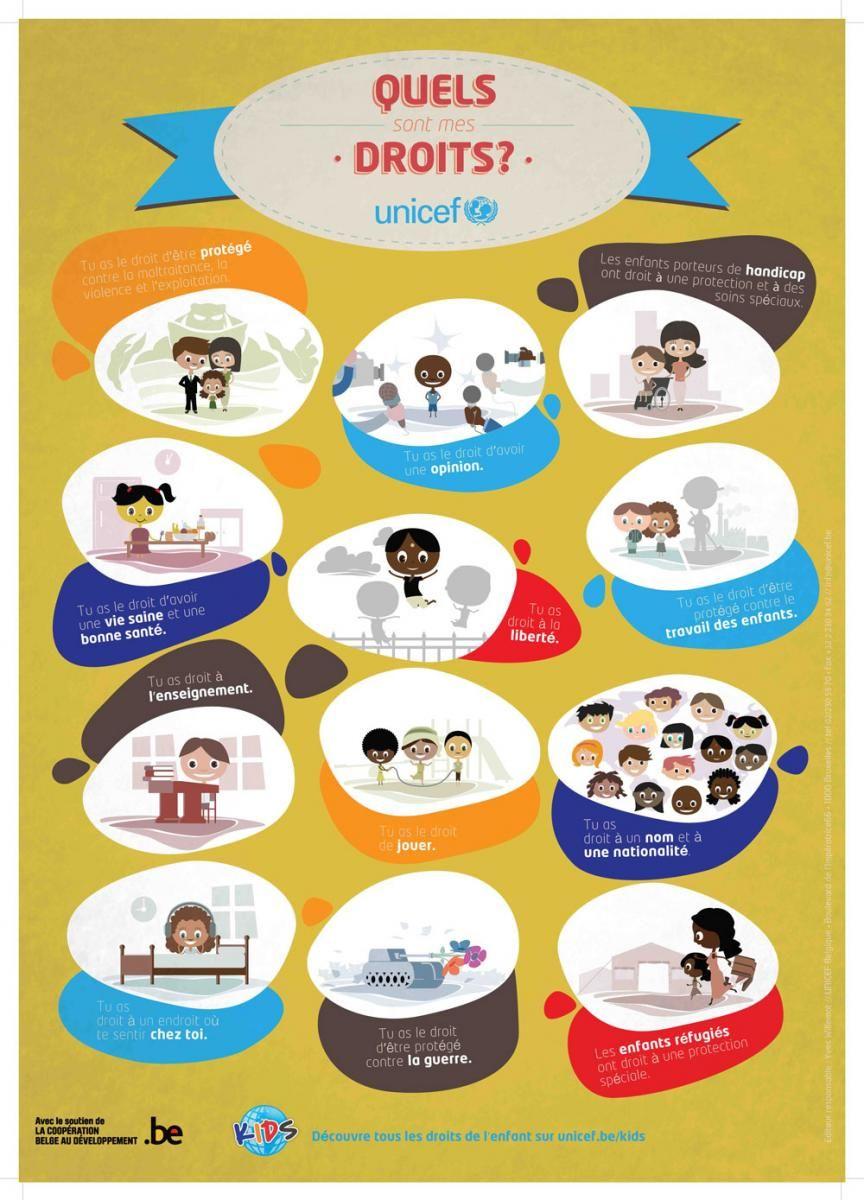 Affiche vulgaris e sur les droits de l 39 enfant id ale pour les l ves du - Mes droits et mes devoirs a la maison ...