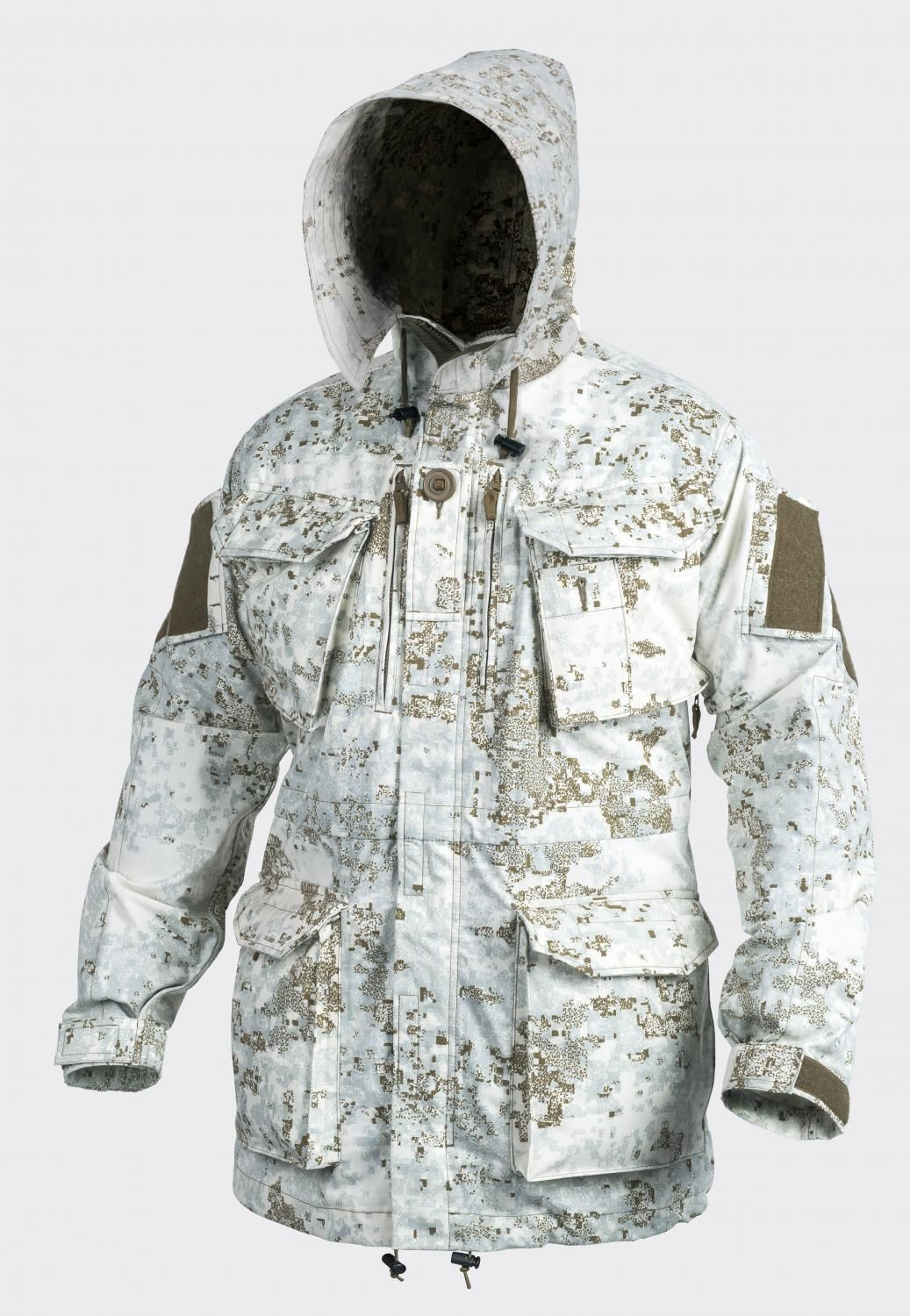 "Absolutely  my favorite Winter Camo Pattern, Pencott's ""SnowDrift"" Pattern! ..... The Personal Clothing System Smock (PCS) Parka/Smock from HELIKON-TEX is now also available in Olive Green Pencott Camouflage Greenzone & Snowdrift."