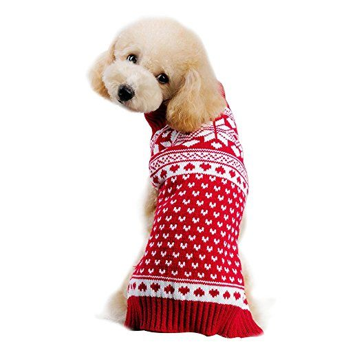 Robot Check Dog Clothes Pet Holiday Snow Dogs