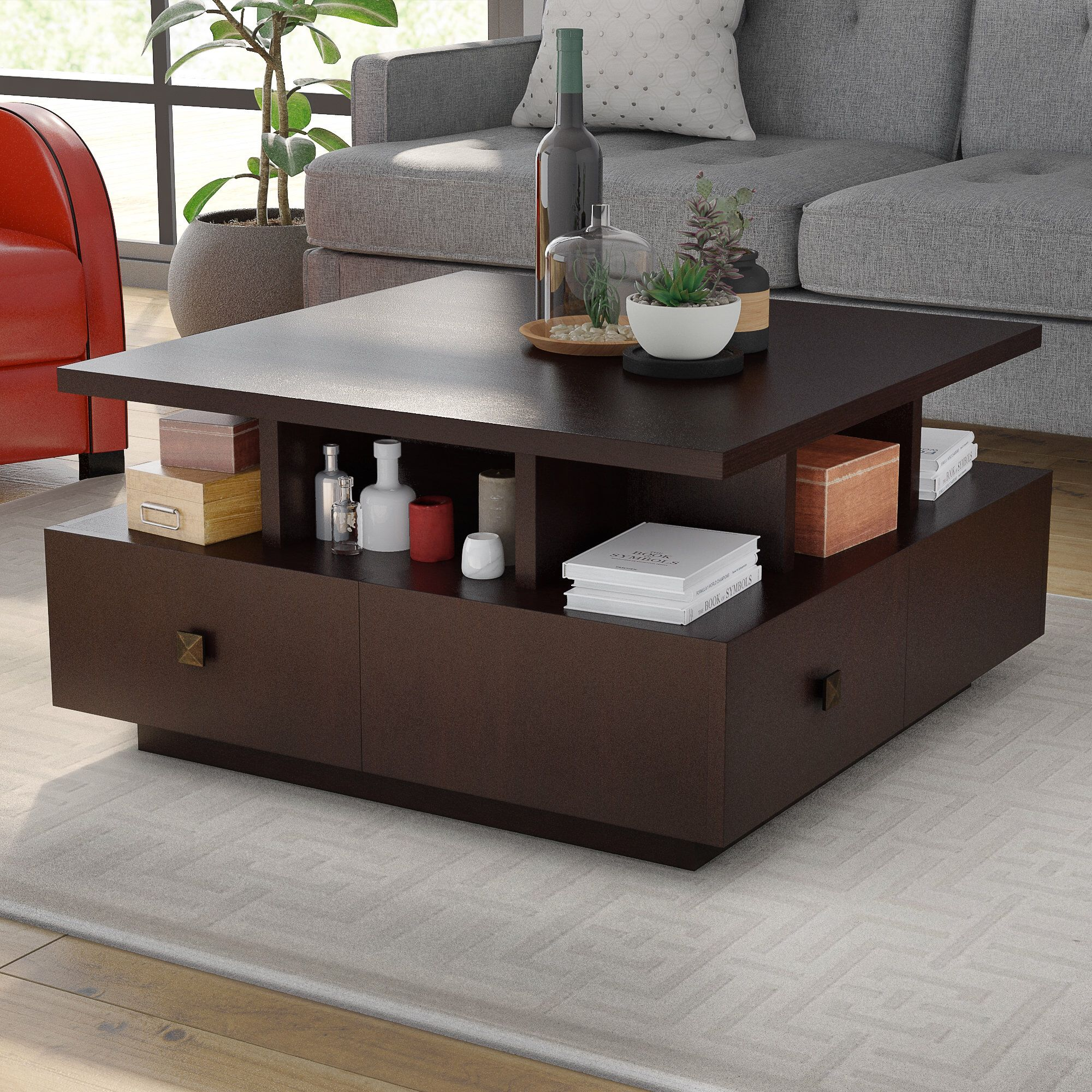 Block Coffee Table With Storage Coffee Table Coffee Table Wood