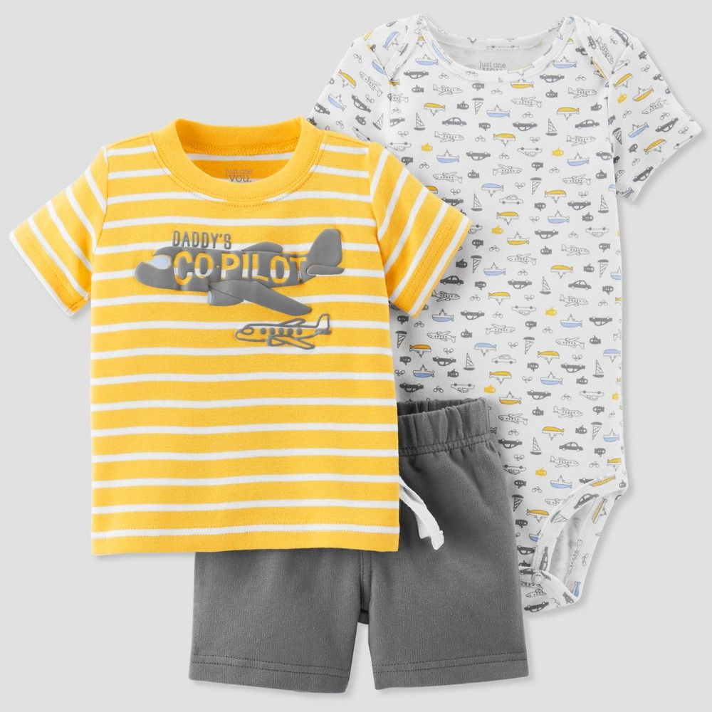 Carters Baby Boys Awesome Like Mommy Bodysuit Yellow 18M
