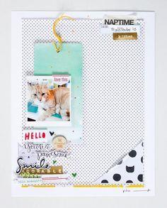 Titelgestaltung auf Layout | Janna Werner | jannawerner.blogspot.de- 1 photo scrapbook layout