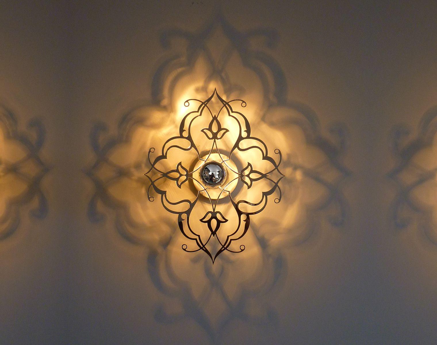 applique luminaire design baroque orient baroush 5d 35x28 cm miroir arabesque decoration. Black Bedroom Furniture Sets. Home Design Ideas