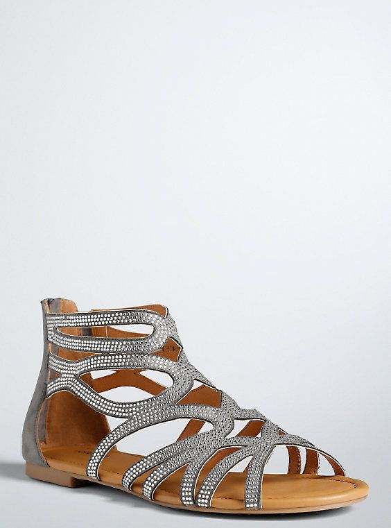 7021c8e4f068 Gemstone Scallop Gladiator Sandals (Wide Width)