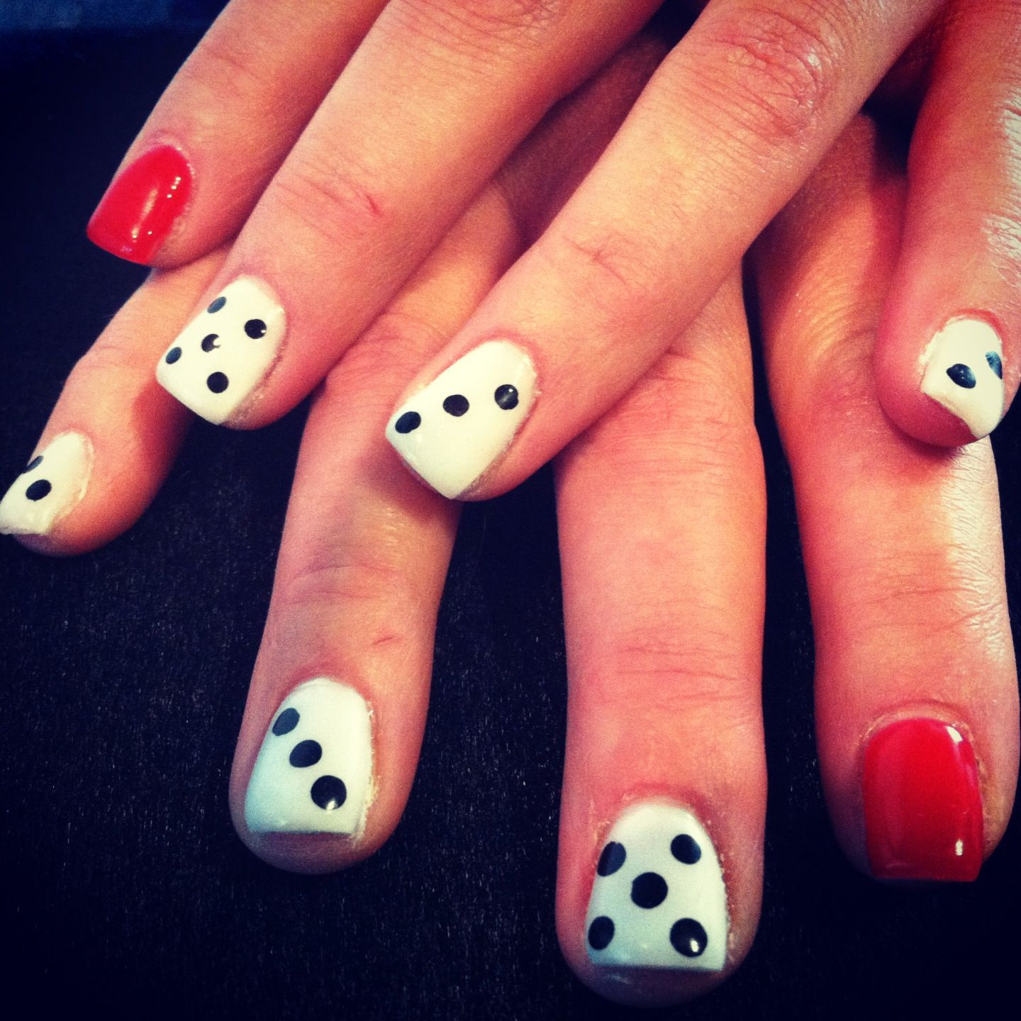 Dice fun nail design for a vegas night vegas baby pinterest dice fun nail design for a vegas night prinsesfo Images