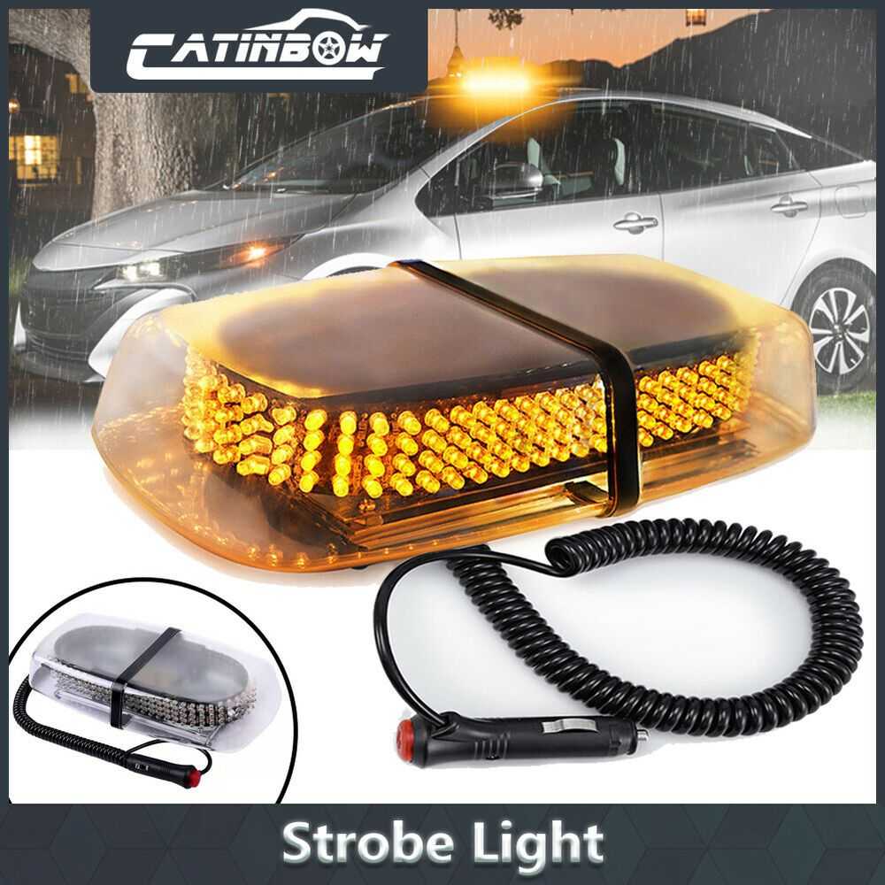 "12/"" 240 LED Car Truck Roof Top Emergency Hazard Warning Flash Strobe Light Amber"