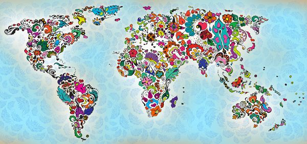 40 creative remakes of the world map creative magic world map a magical remake of the continents of the world image source creativedesign gumiabroncs Choice Image