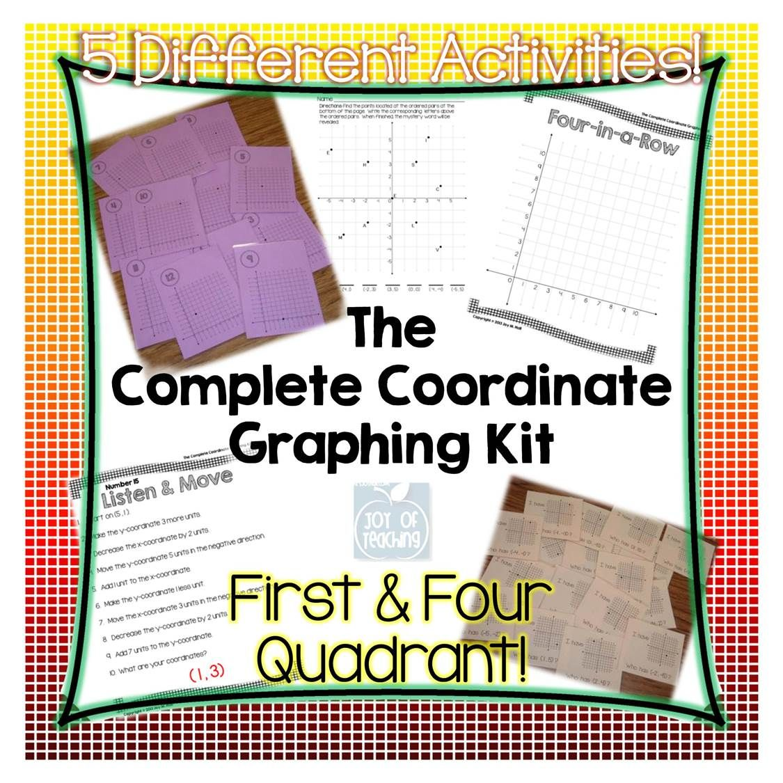 The Complete Coordinate Graphing Kit Covers Both First