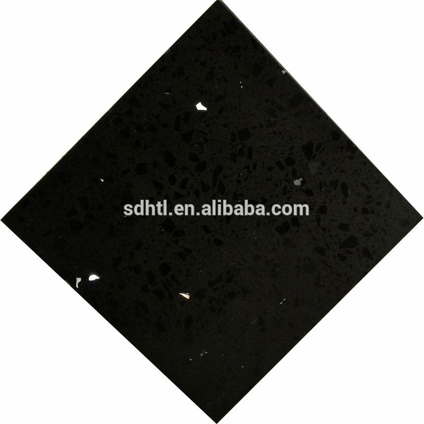 3cm 30mm 2cm 20mm Starlight Sparkle Galaxy Black Quartz Table Top
