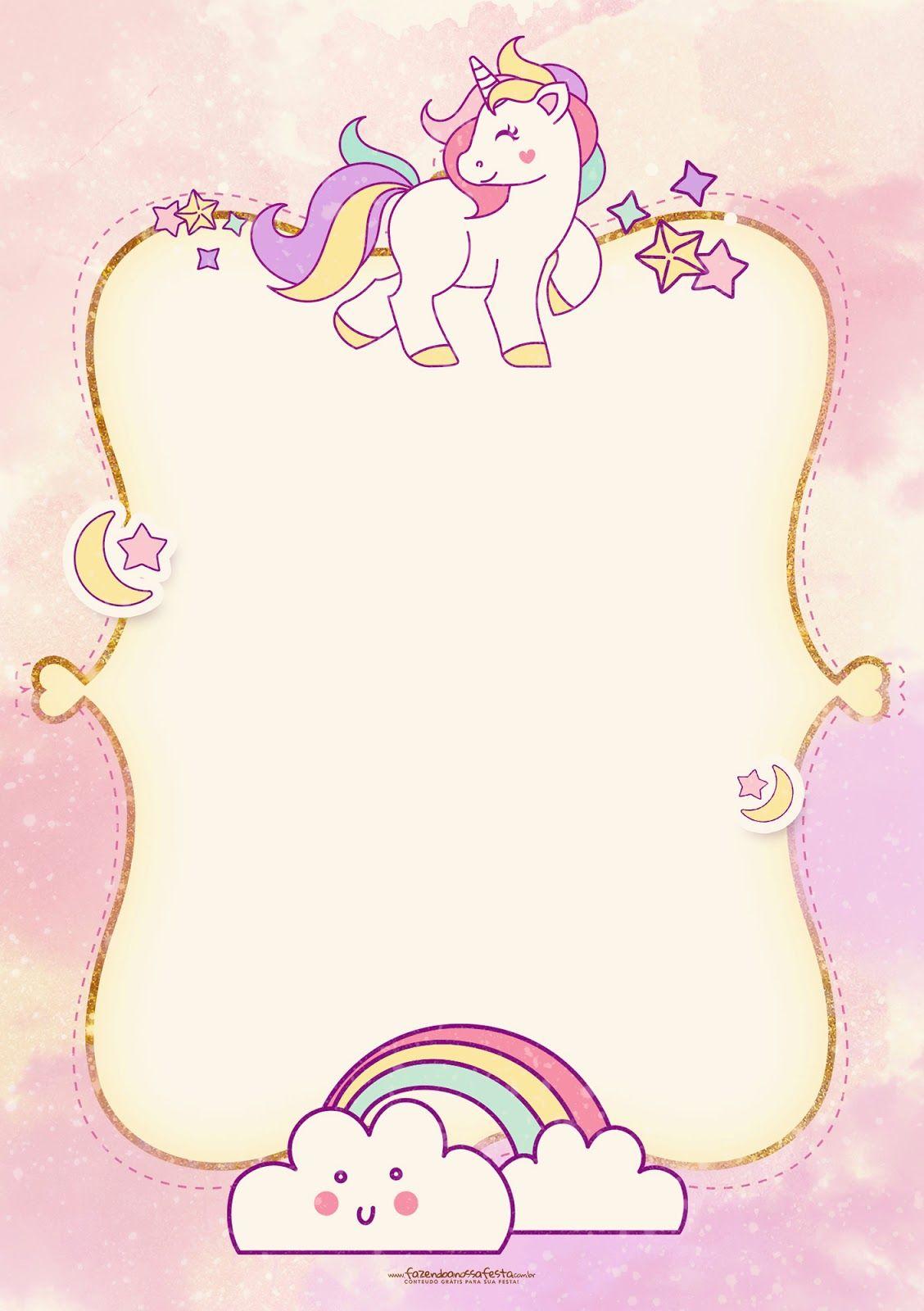 unicorn free printable invitations 004 jpg 1 128 1 600 pixels