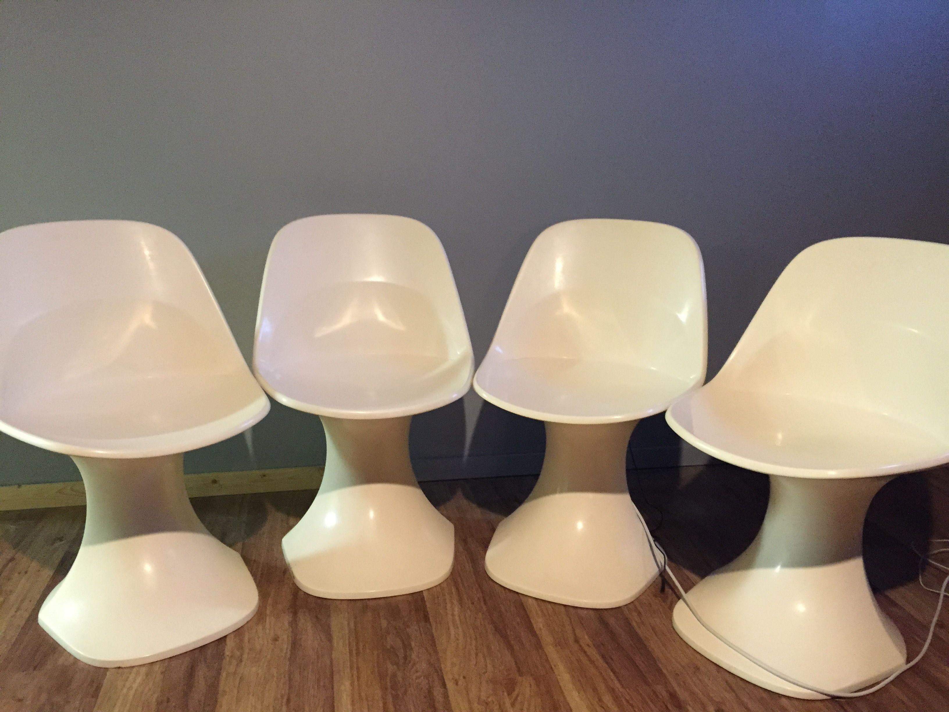 60 s fiberglass chairs by Perttu Mentula for PMD Design Finland