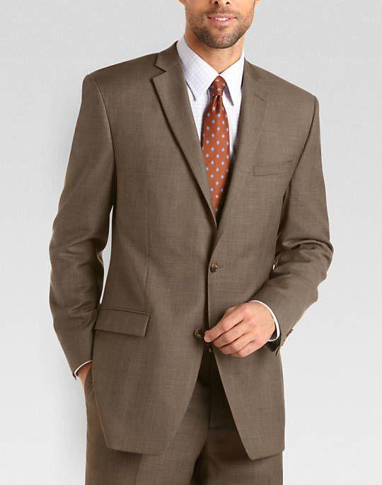 Joseph Abboud Brown Sharkskin Suit - Modern Fit (Trim) | Men's ...