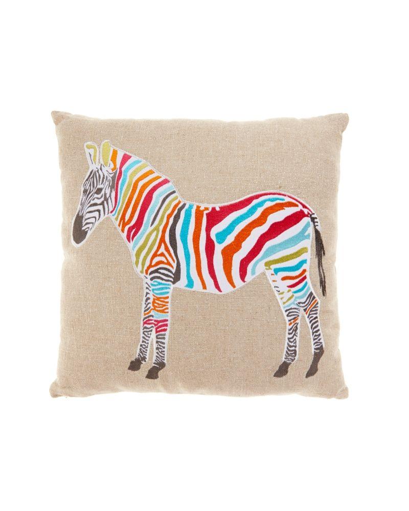 zebra pillow.