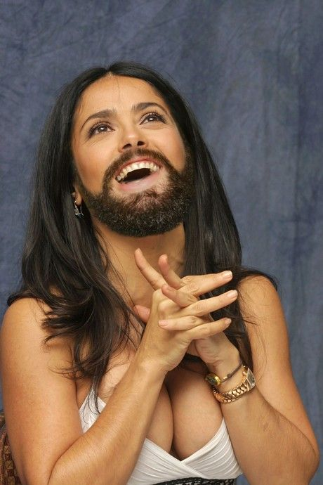 Understood Salma hayek bearded sorry