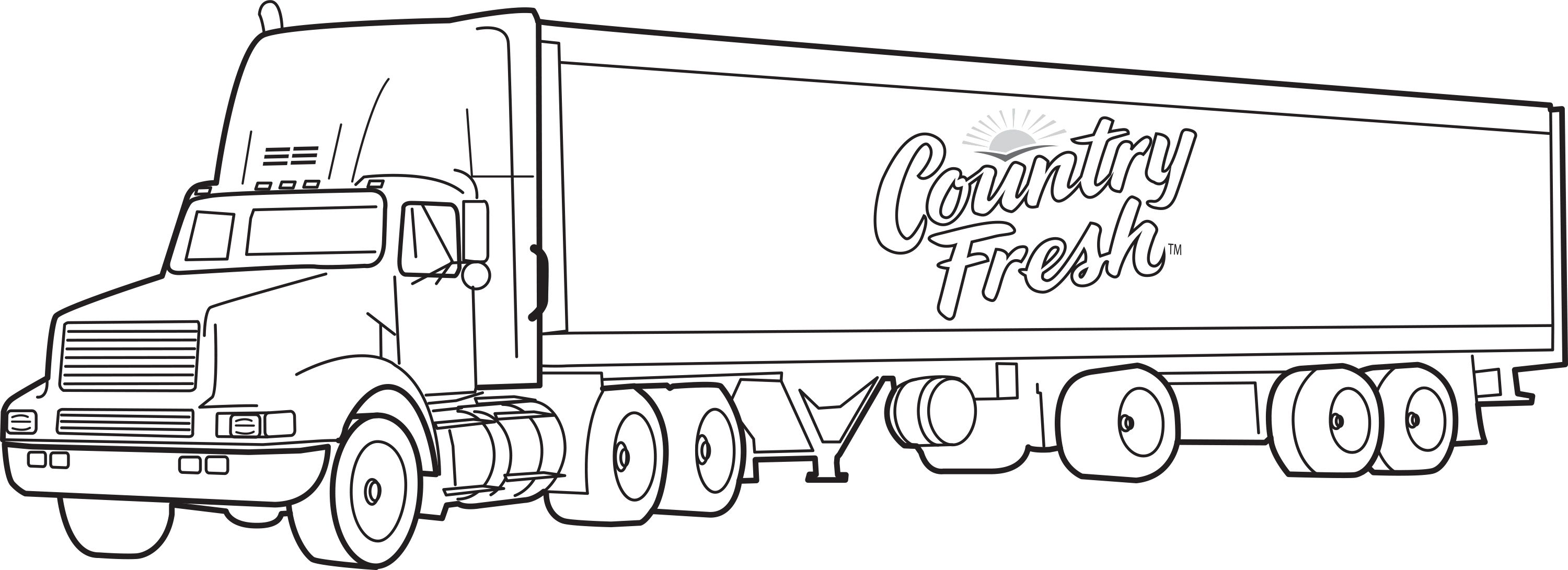 18 Wheeler Coloring Pages Wallpapers