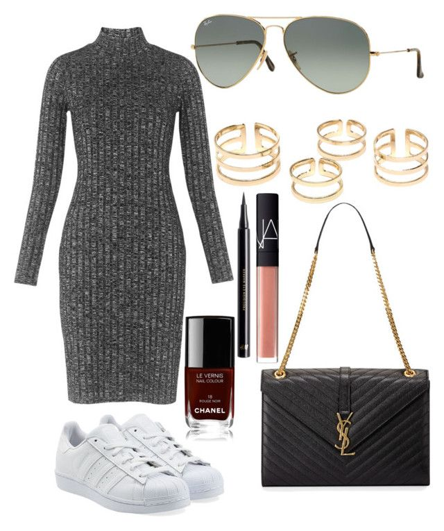 """Untitled #3777"" by dudas2pinheiro ❤ liked on Polyvore featuring Whistles, adidas Originals, Yves Saint Laurent, Ray-Ban, NARS Cosmetics, H&M, Chanel, women's clothing, women's fashion and women"