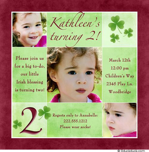 Little girl 2nd birthday party ideas berry colored shamrock 2nd little girl 2nd birthday party ideas berry colored shamrock 2nd birthday card bookmarktalkfo Choice Image