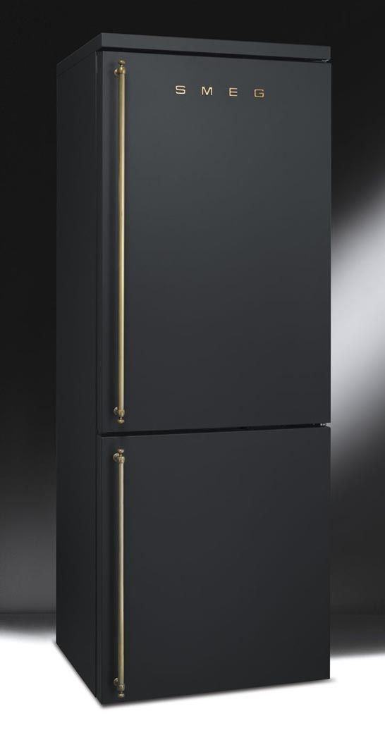 Matte black fridge by smeg smeg is an italian home - Kitchen appliance manufacturers ...