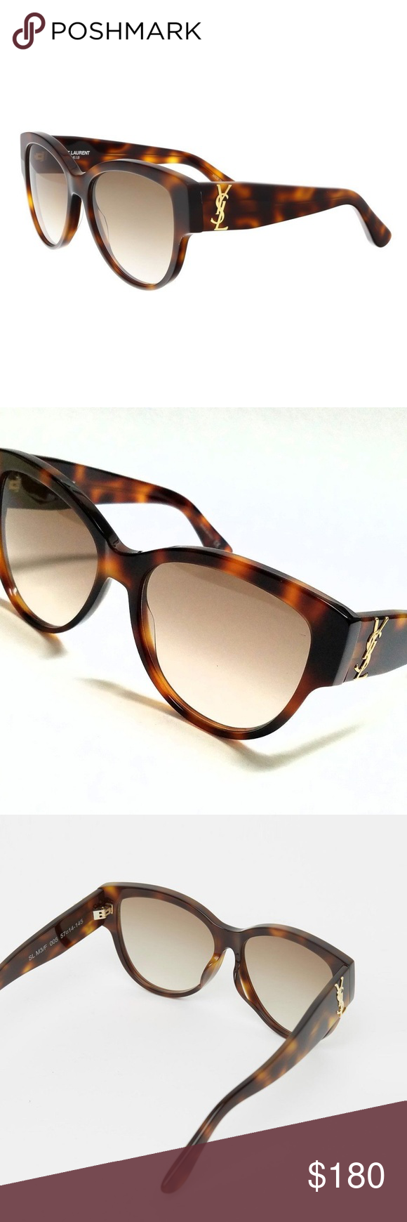 e8fa5da145a AUTHENTIC YSL SL M3 005 Havana Brown Sunglasses 100% AUTHENTIC YSL SAINT  LAURENT SL M3