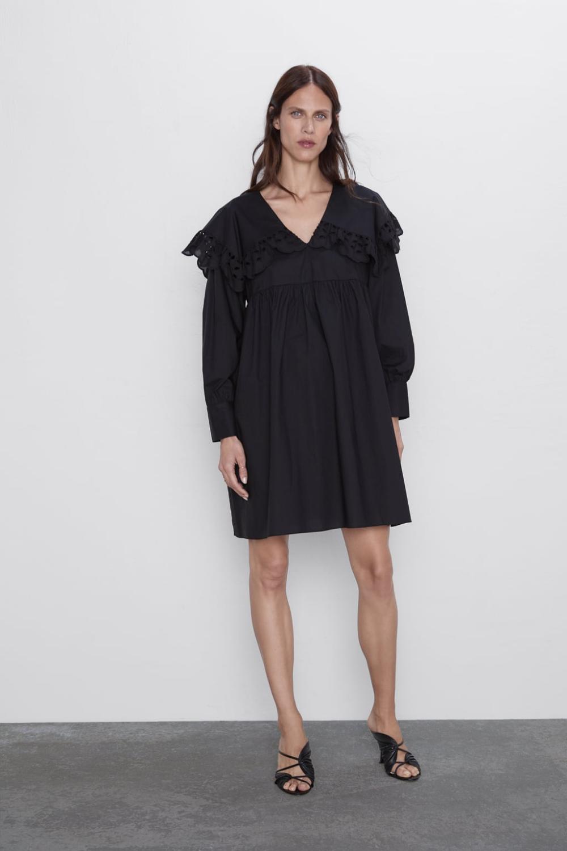 poplin mini dress - shift dresses-dresses-woman | zara