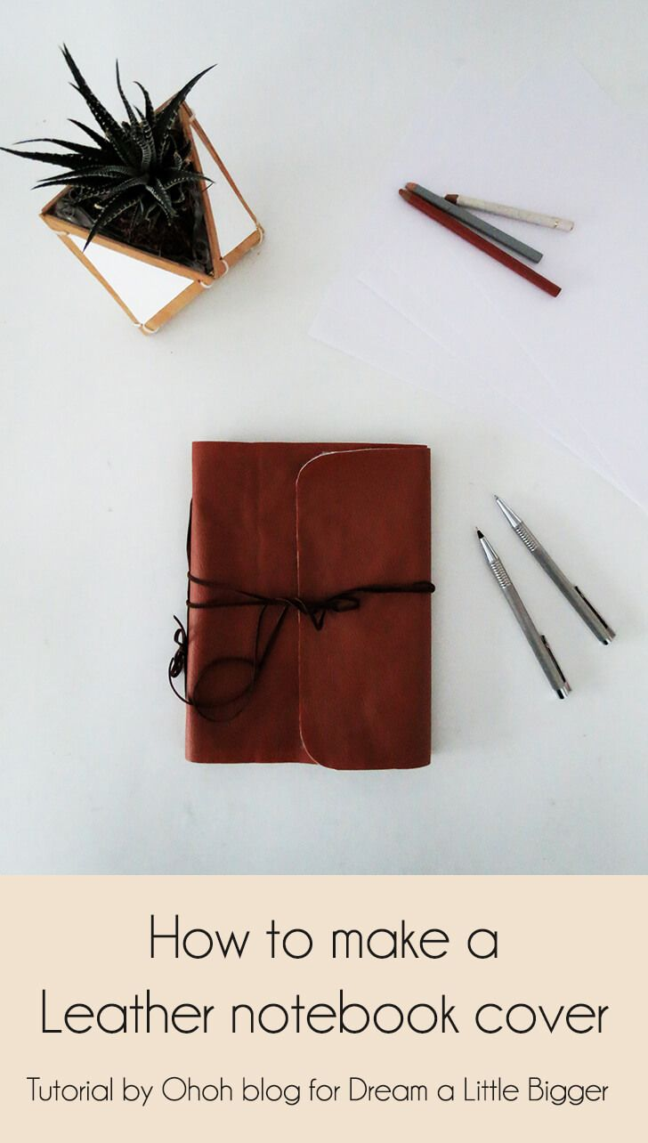 How To Make A Book Cover On A Computer : How to make a leather notebook cover diy craft
