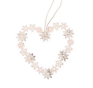 Small Daisy Heart Shabby Chic Hanging Ornament Wedding Xmas Home Decoration